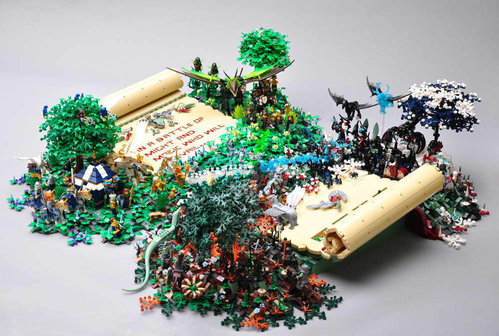 Which Side Will Prevail In This Lego Battle Of The Seasons? Whole Build.