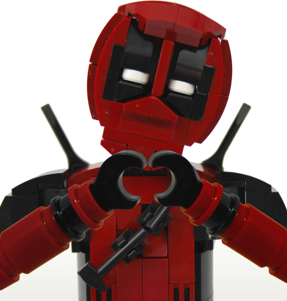 This Brick Built Deadpool Has A Lot Of Love - Lego MOC