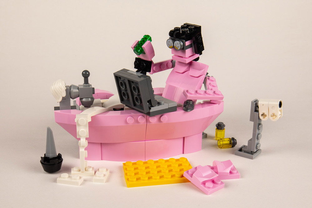 Working From Home - A Lego Overwatch Alternate Build