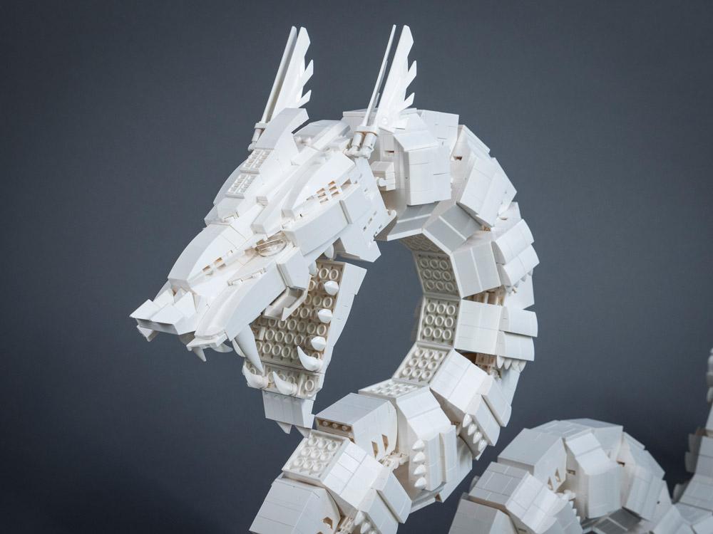 The Lego Ultra Mecha Dragon Head Detail
