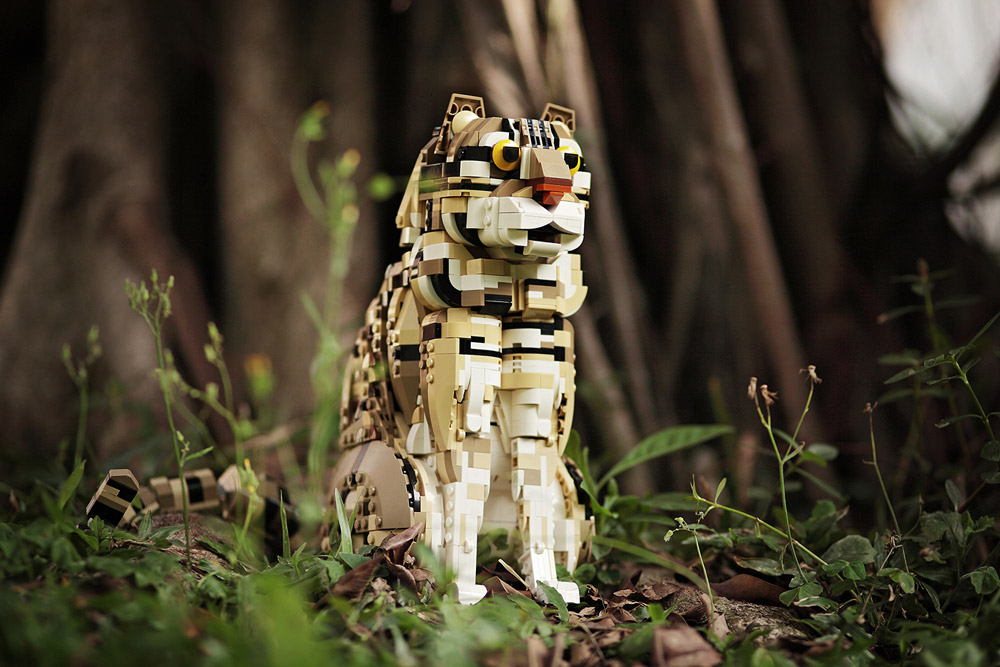 The Wild Leopard Cat Lego Creation
