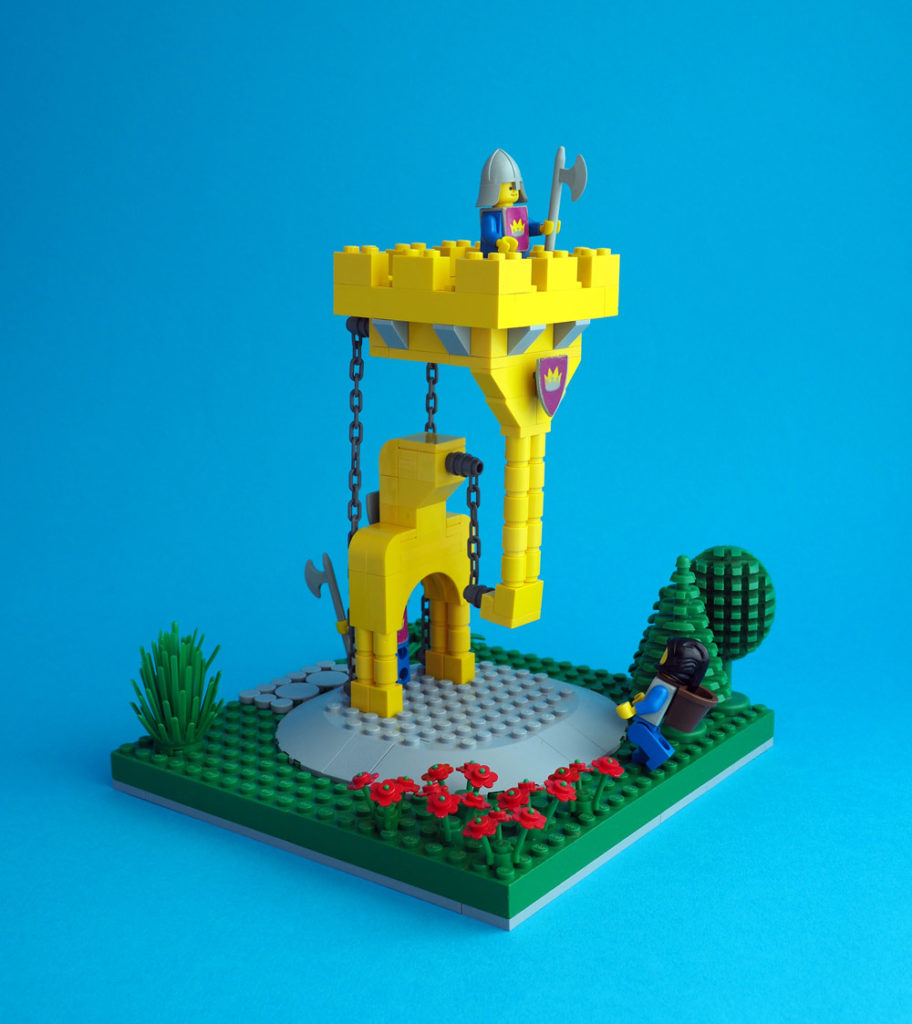 Guard Duty At Tensegrity Tower, Lego MOC