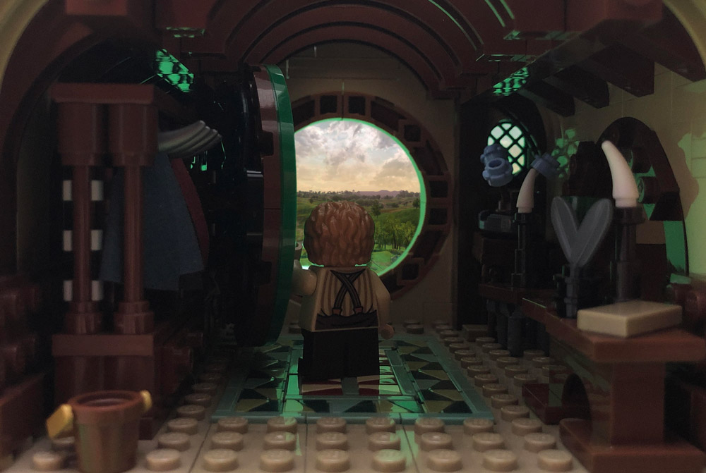 It's A Warm Day At Bag End, the Lord of the Rings Adventure Lego MOC
