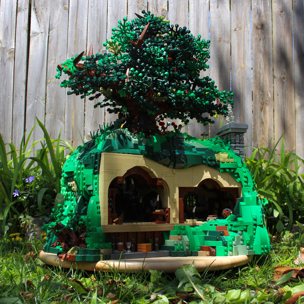 It's A Warm Day In Hobbiton, At This Bag End, Backside Interior Lego MOC