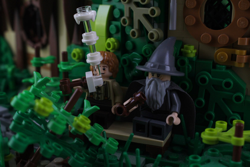 It's A Warm Day At Bag End, Pipe-weed LOTR Lego MOC