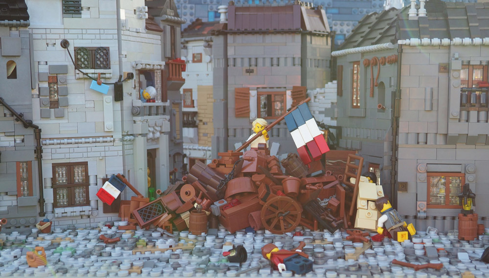 The Barricade From Les Miserables — A Lego Scene