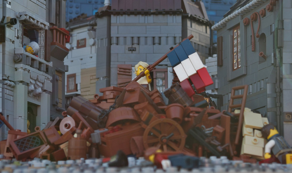 The Barricade From Les Miserables — A Lego Scene Detail