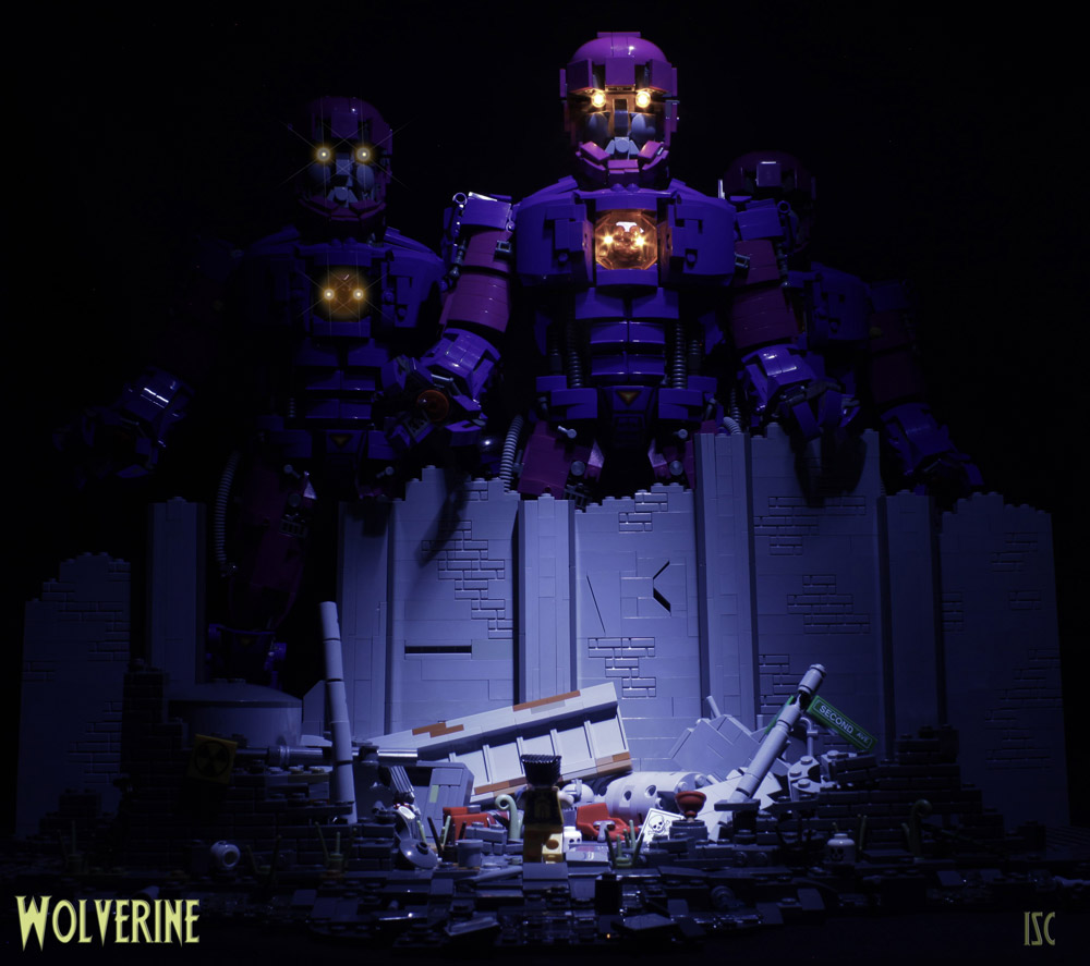 Wolverine Is Taking On The Sentinels Alone, Lego MOC