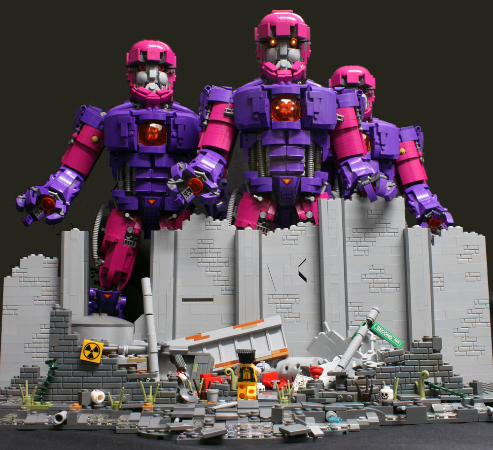 Wolverine Is Taking On The Sentinels Alone, Lego MOC Daytime