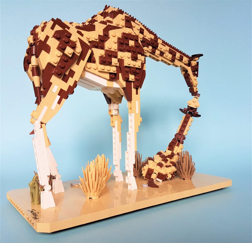 A Nurturing Mother Giraffe, And Calf — Lego MOC # 2