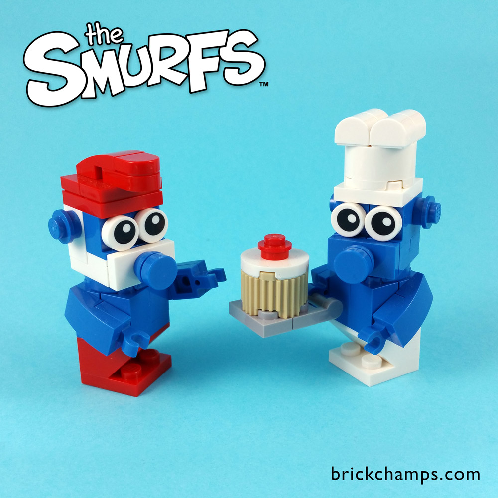 Eat Some Cake With Lego Smurfs