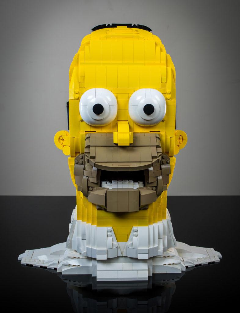 Homer Simpson Lego Bust