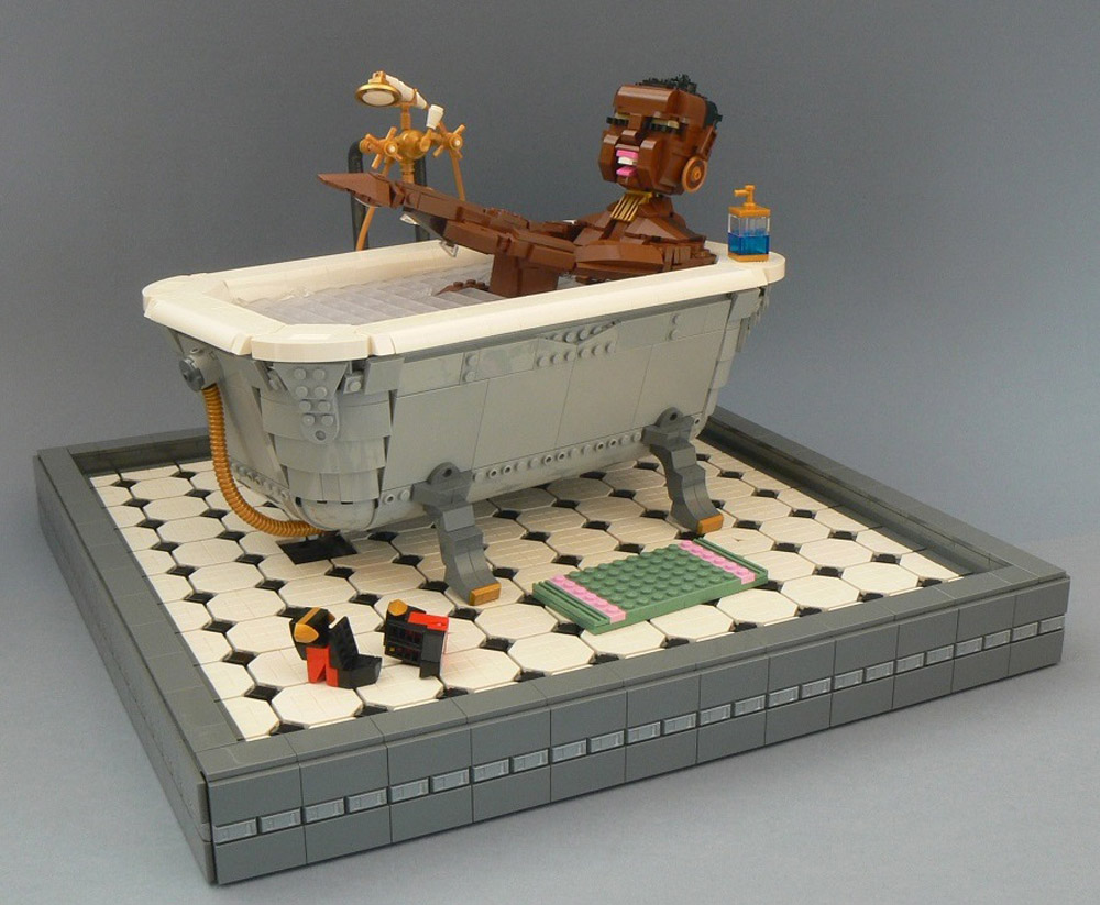 Relaxing In A Bath — A Lego MOC