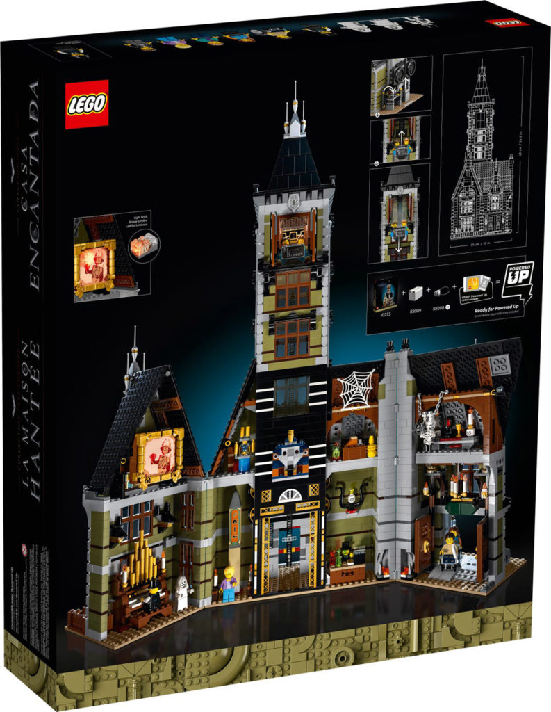 The Manor  Von  Barron, A New Lego Haunted House (10273) Box Back