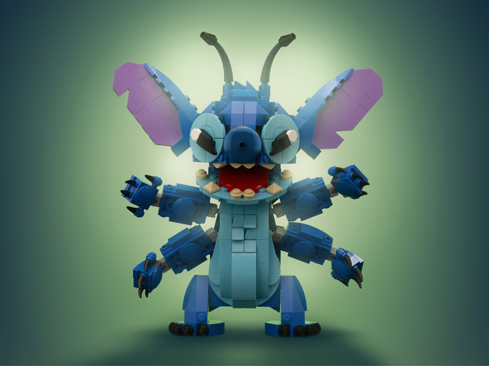 Lego Stitch, Now With More Arms! Updated Lego MOC.