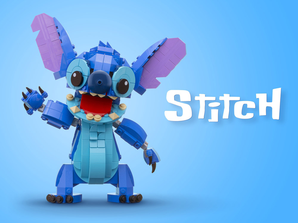 Lego Stitch, Now With More Arms! Updated. Nice.