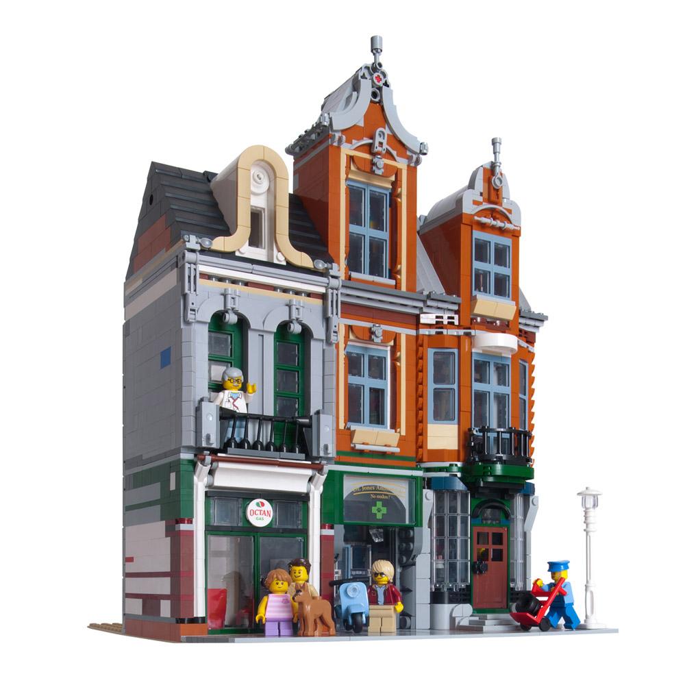 The Octan Office, An Alternate Corner Garage, Lego MOC