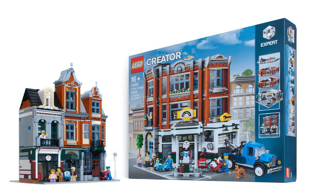 The Octan Office Lego MOC, An Alternate Corner Garage 10264
