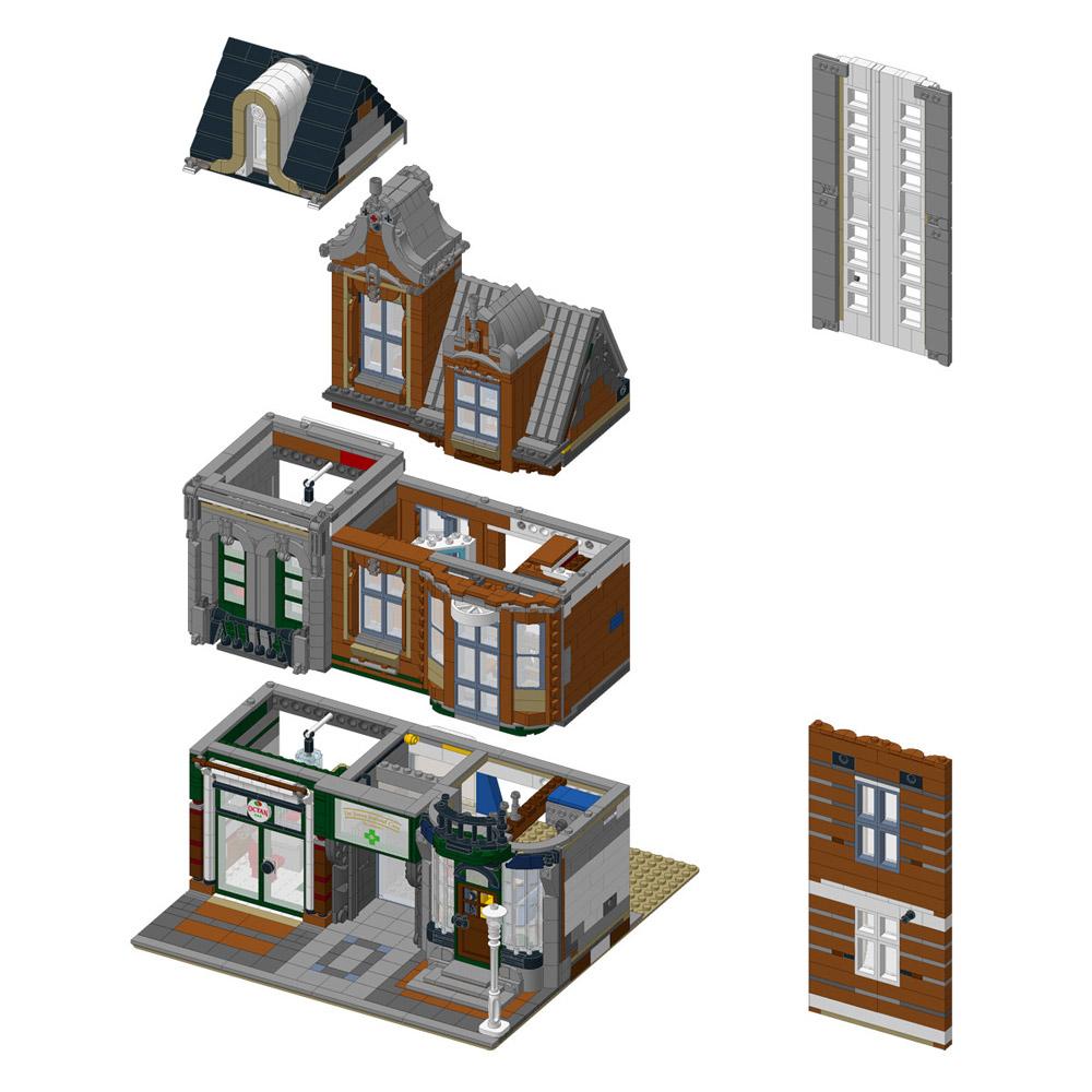 The Octan Office, An Alternate Corner Garage Lego Instructions