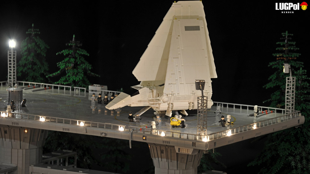 An Epic Imperial Outpost On Endor — Lego Star Wars — Shuttle At Night