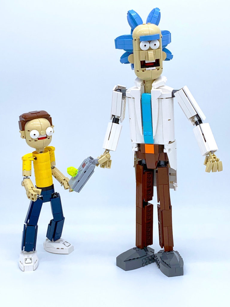 Jump Through Some Portals With This Lego Rick And Morty
