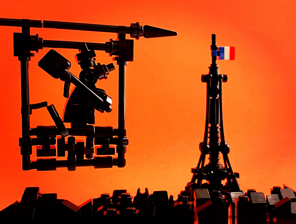 Ratatouille In Paris, A Lego Build