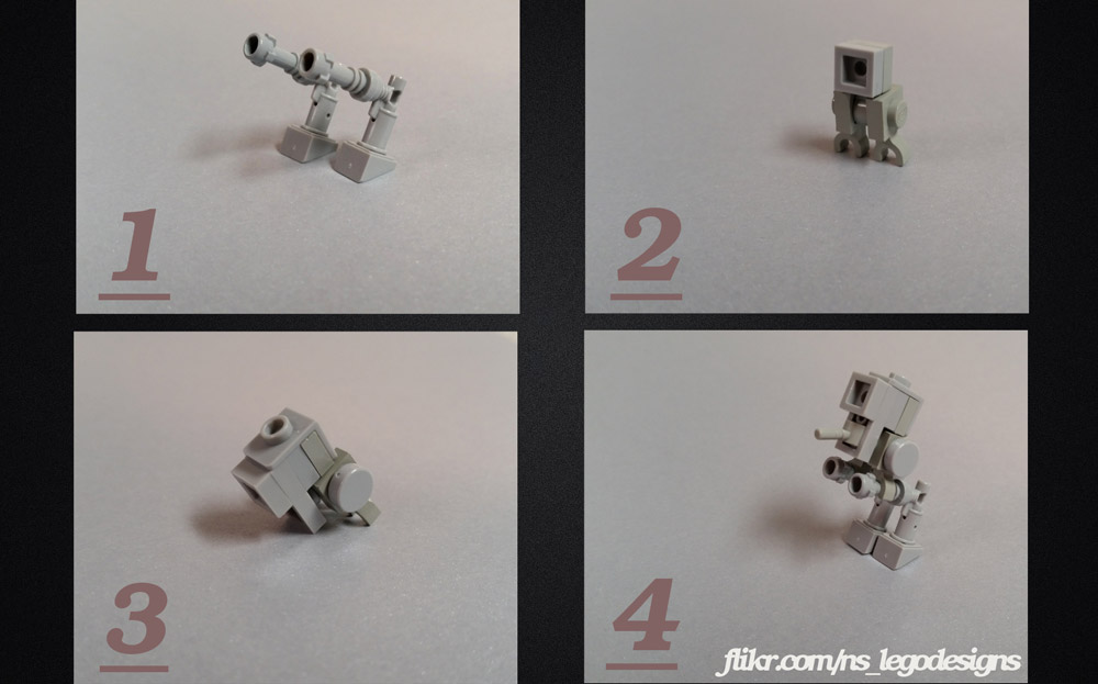 Build Your Own Nano Lego AT-ST With Instructions, Lego MOC How To