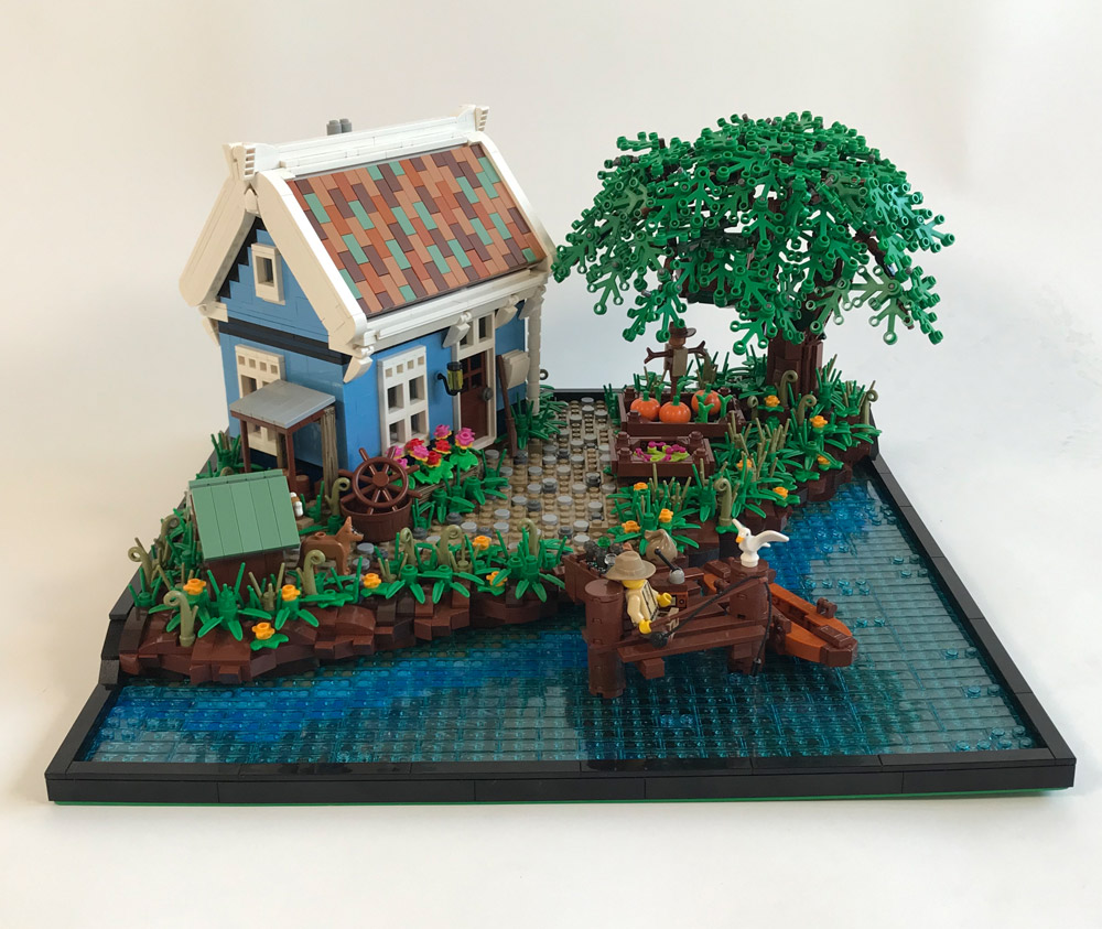A Relaxing Weekend At The Fishing Cabin, Lego MOC