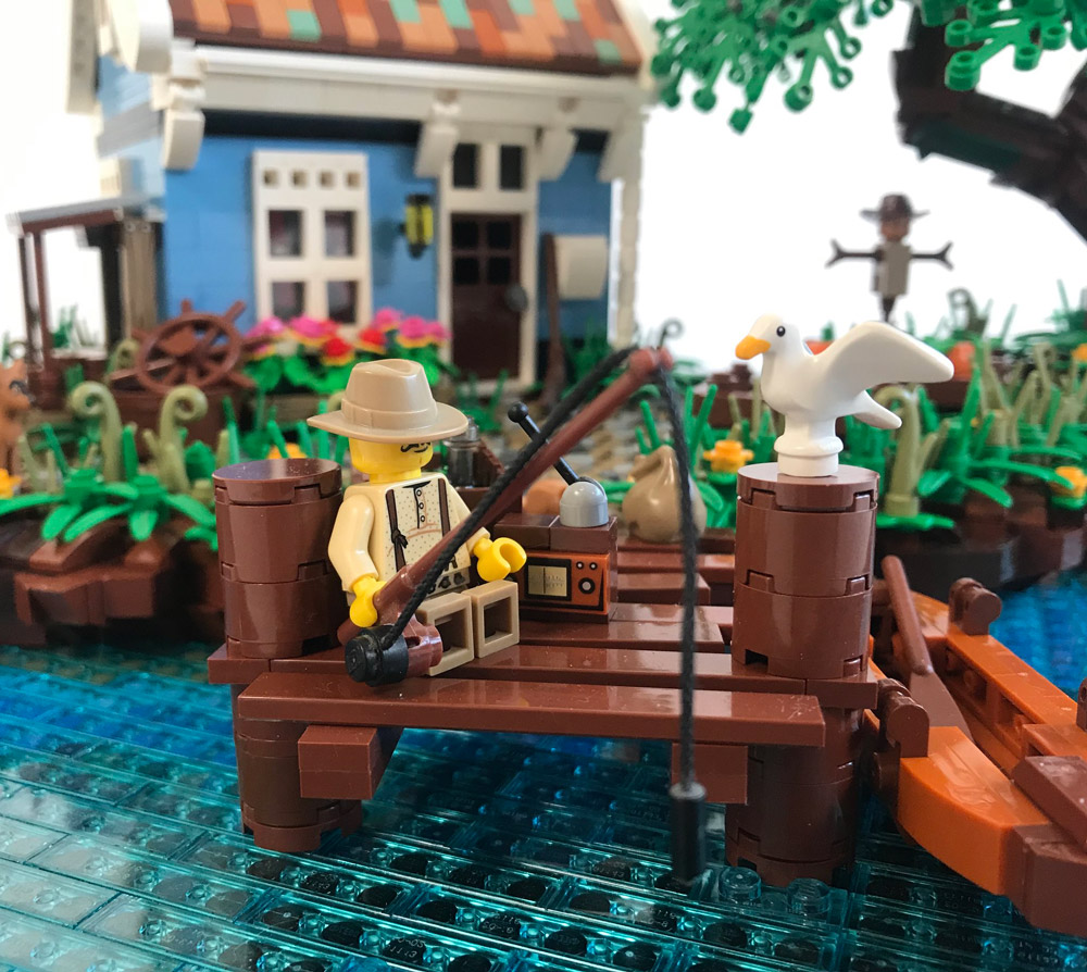 A Relaxing Weekend At The Fishing Cabin, Lego MOC, The Pier