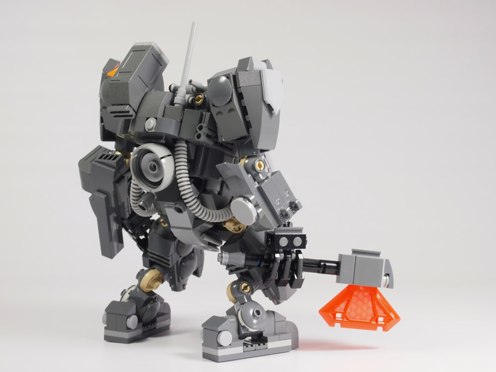 This Lego Mecha Comes With Backup Rear View