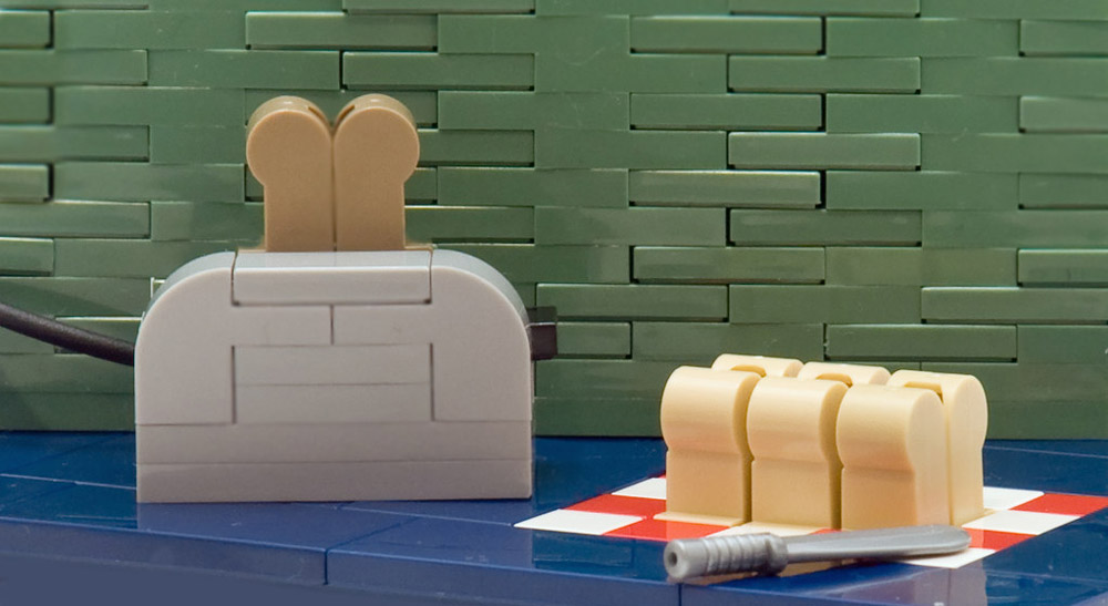 Add Heat And Magic To Bread, And You Get Lego Toast