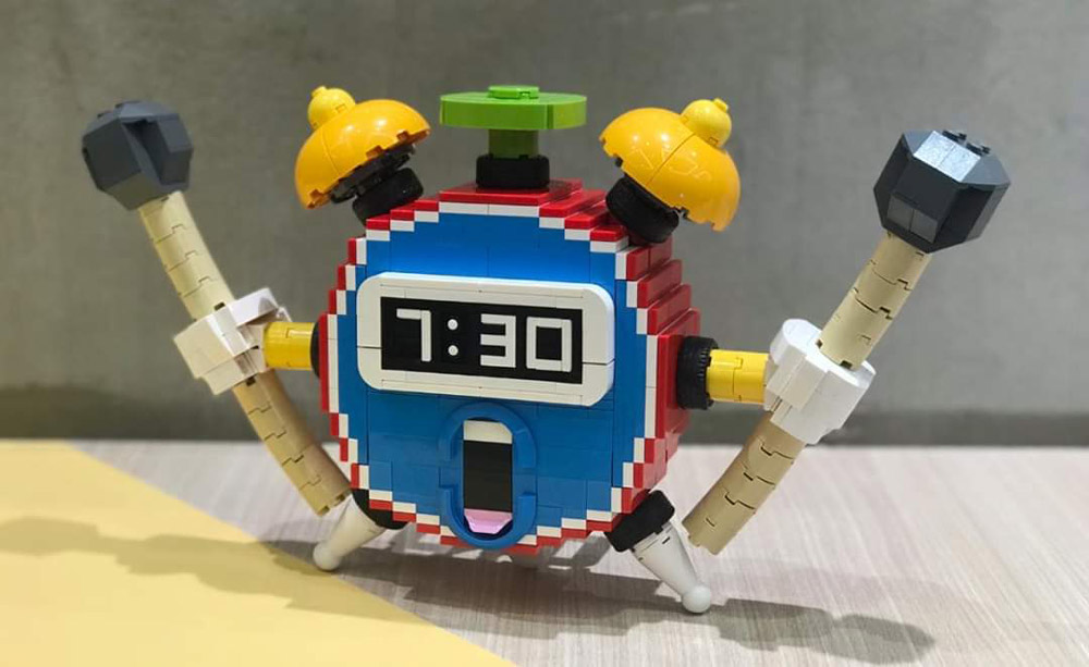 It's Time To Wake Up With A Lego Alarm Clock