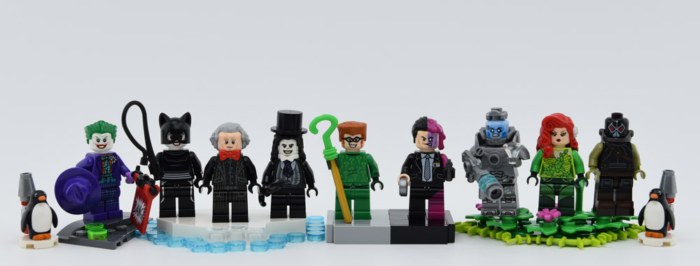 90s Batman Villains As Lego Minifigures, Batman, Returns, Forever, And Robin