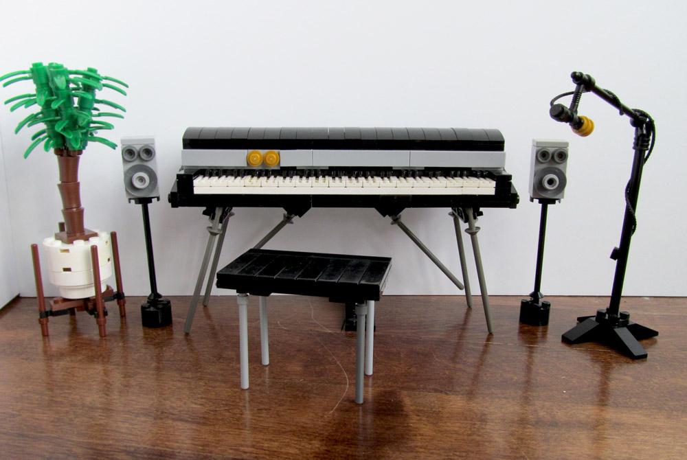 A Lego Fender Rhodes Electric Piano