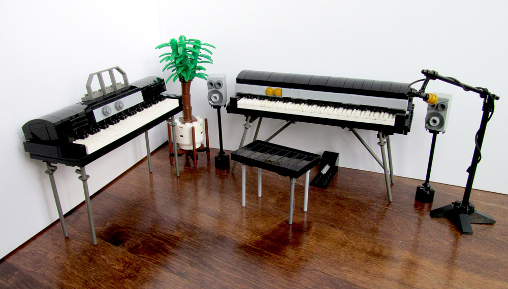 A Lego Fender Rhodes And Wurlitzer Electric Piano