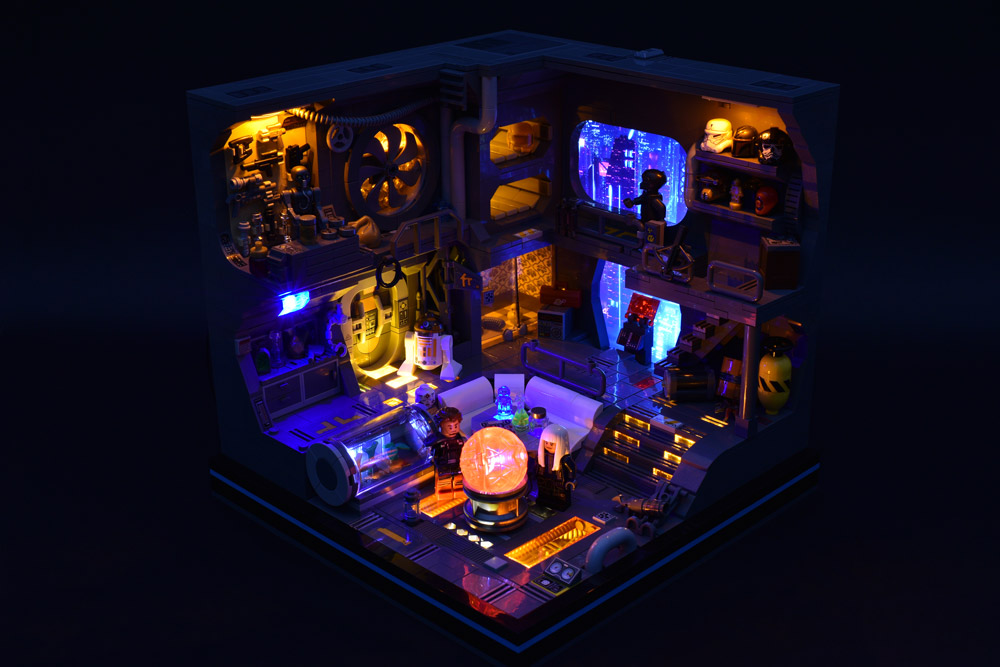 A Lego Star Wars Cyberpunk Room, Dark