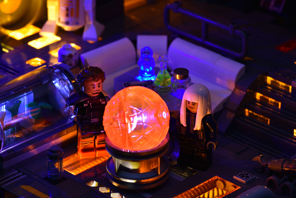A Lego Star Wars Cyberpunk Room, Detail