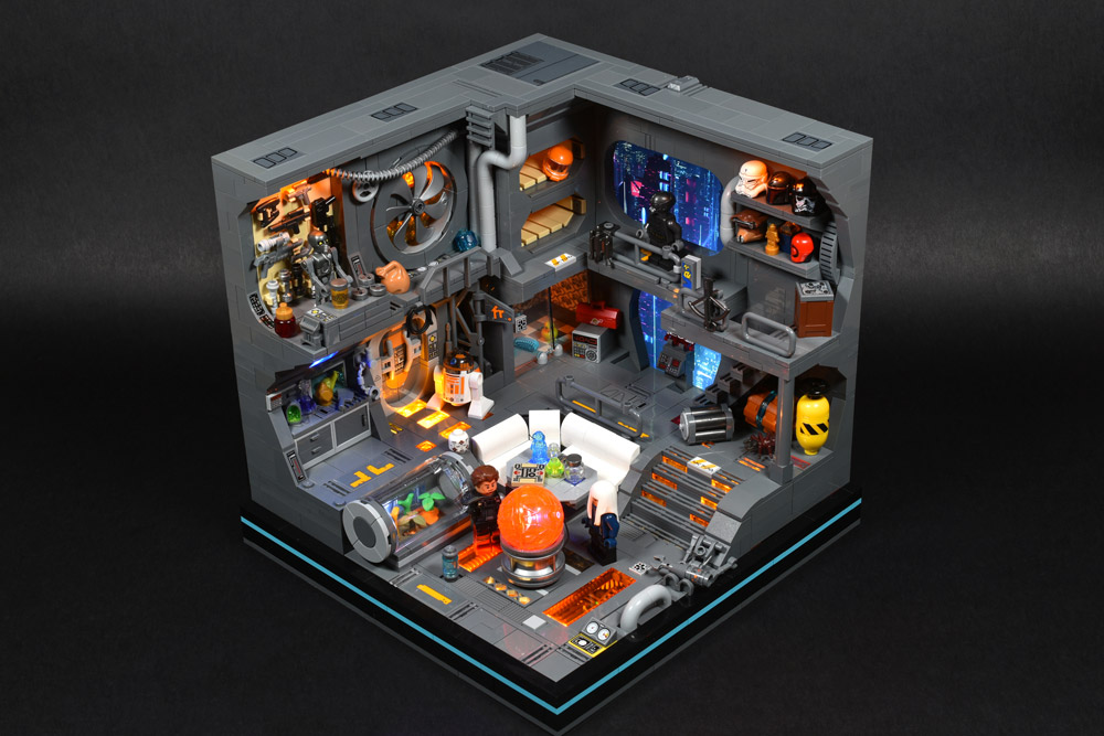 A Lego Star Wars Cyberpunk Room, Lights