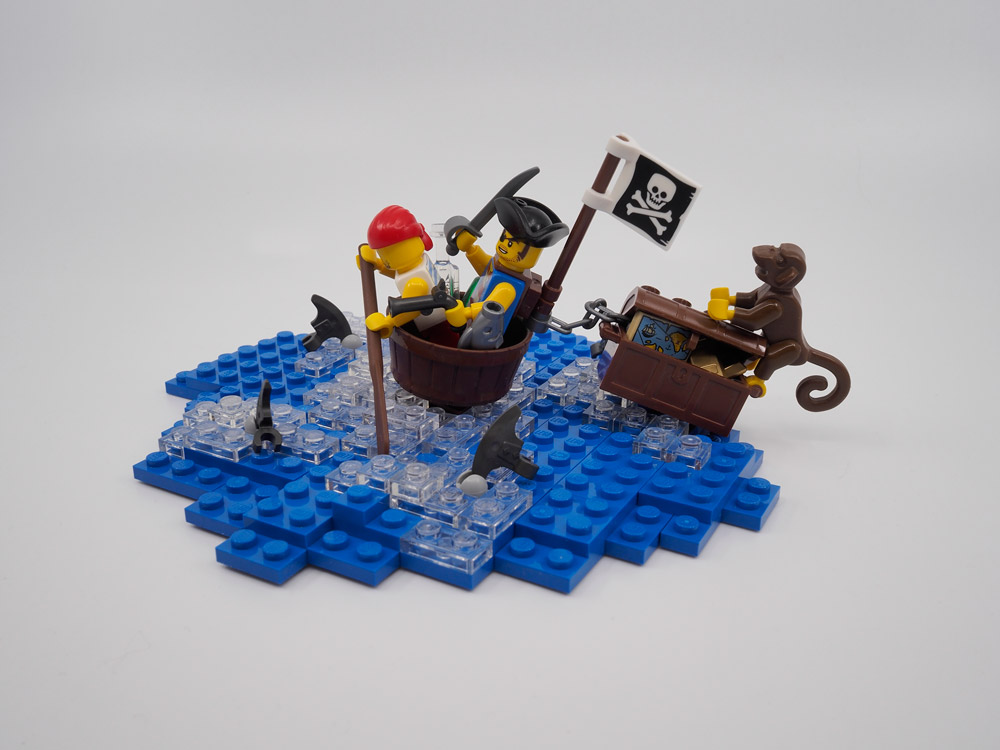 Rub-A-Dub-Dub Two Men In A Tub, Pirate Lego MOC
