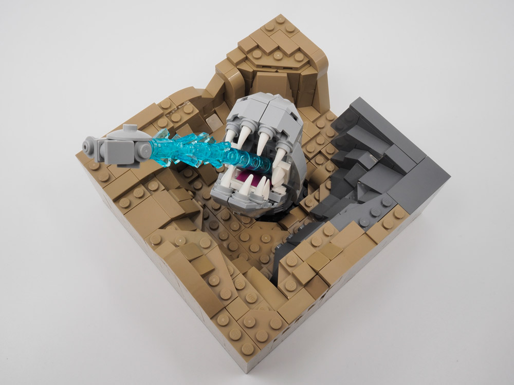 This Is No Cave. A Lego Space Slug. Over View.