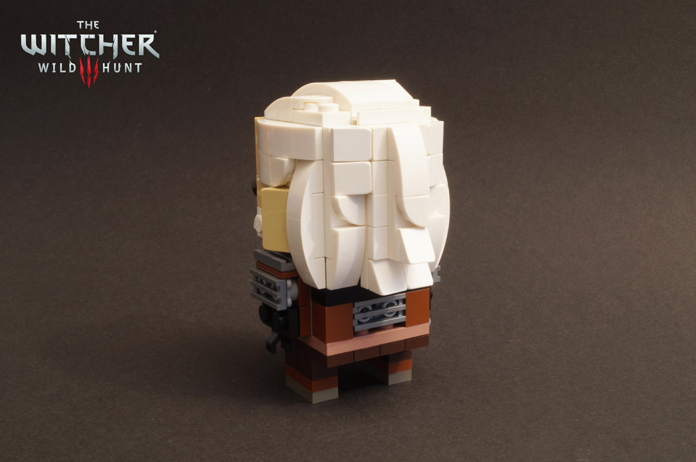 The Witcher Geralt — A Lego Brickheadz Figure Back