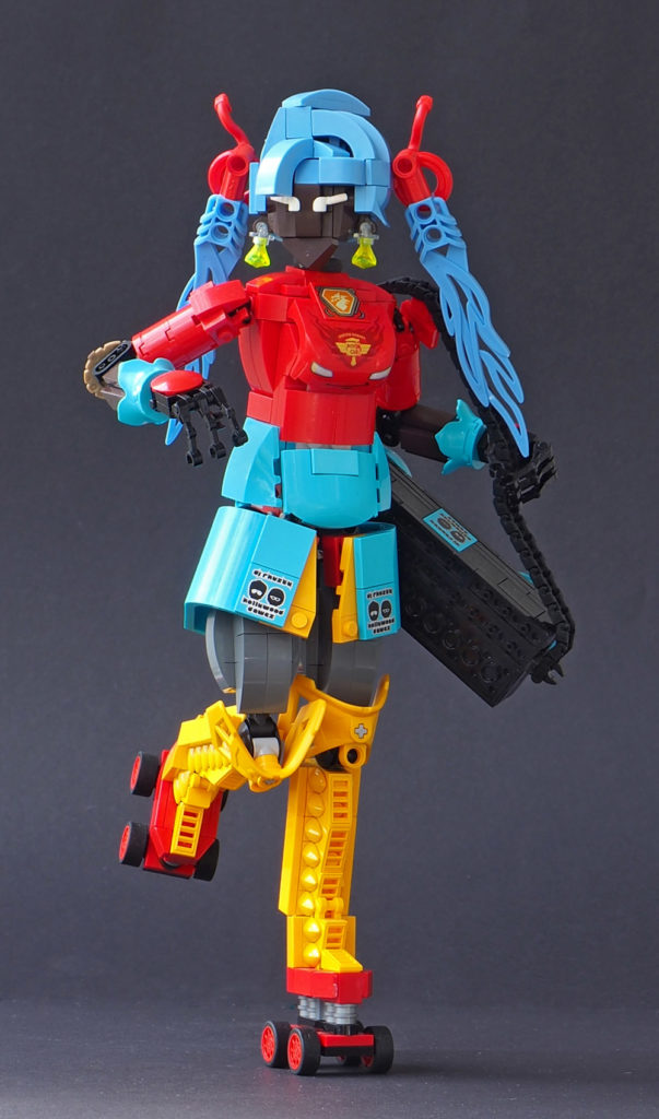 Roller Skate With Veron Zapper, A Lego Figure