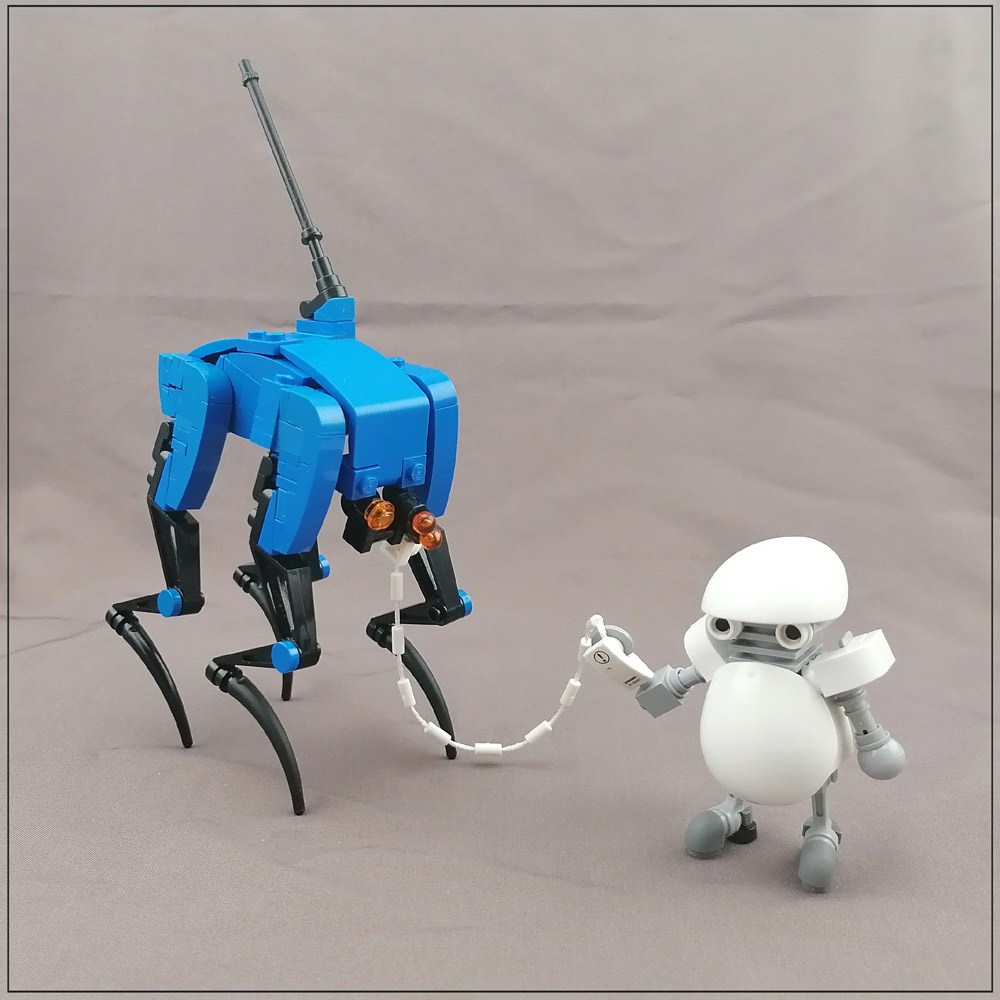 A Robot Boy And His Robot Dog - Lego MOC