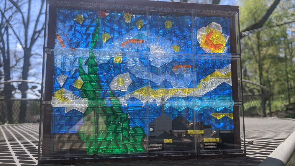 A Starry Night Lego Window Daytime