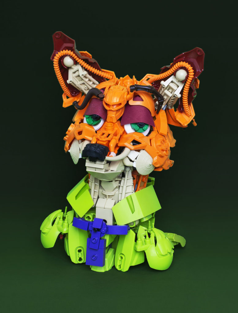 Nick Wilde Created Out Of Lego