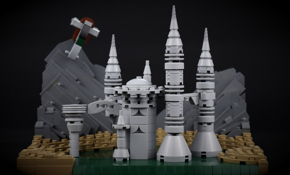 Count Dooku's Castle Lego Build