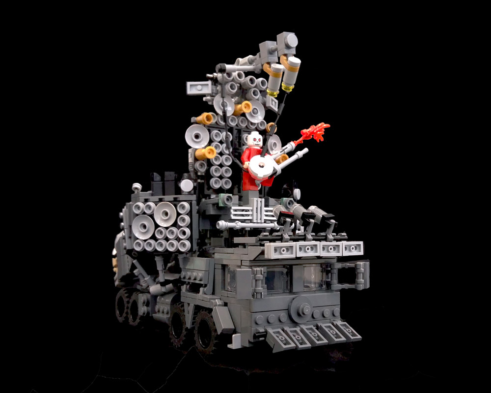 A Lego Mad Max Doof Wagon