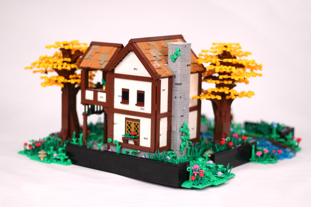 The Golden Forest House, Rear View Lego MOC