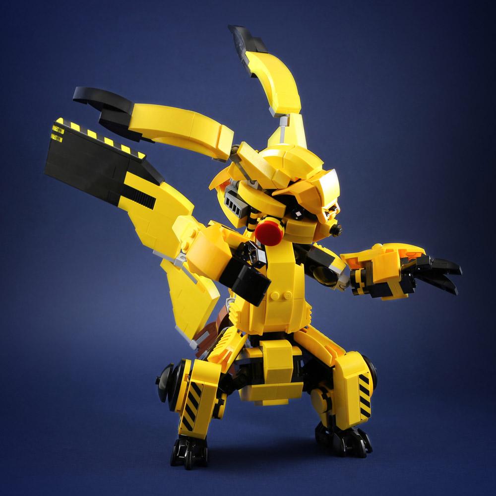 Mecha Pikachu Used Thunder! Lego MOC.