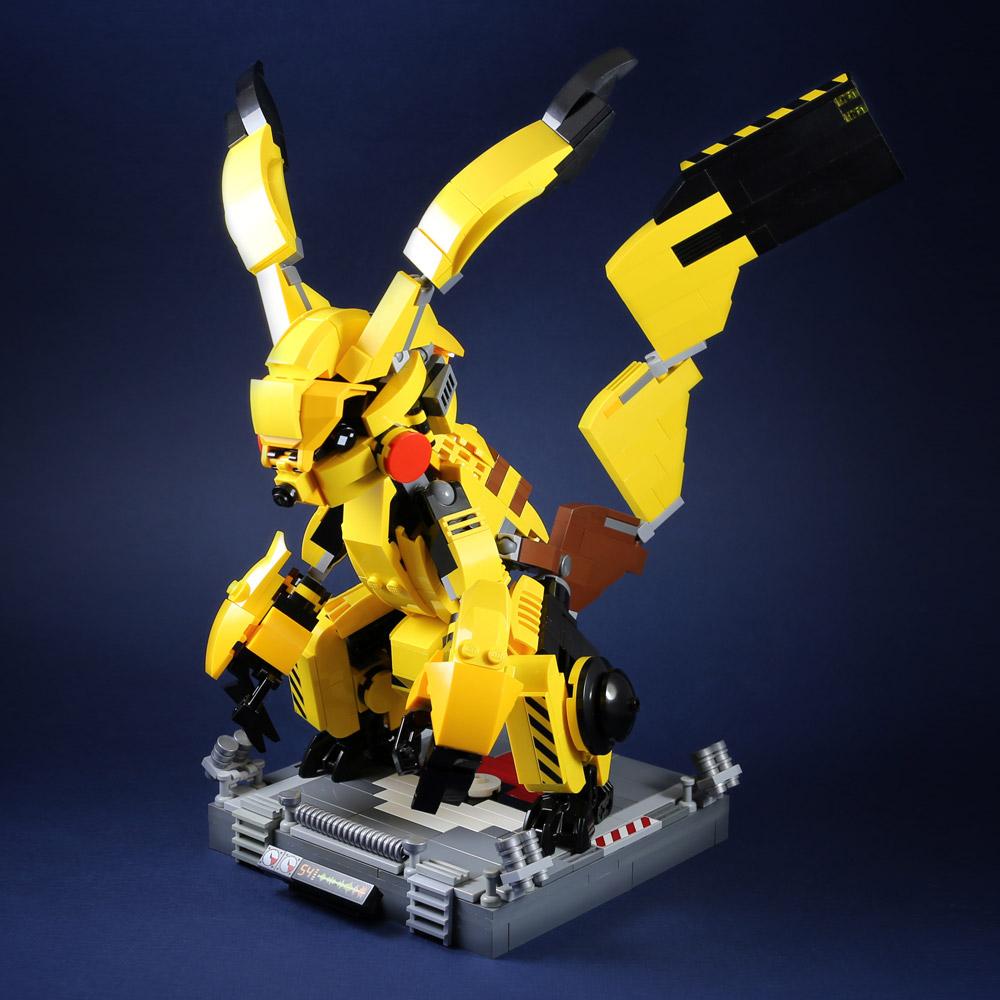 Mecha Pikachu Used Thunder! Battle Lego Build.